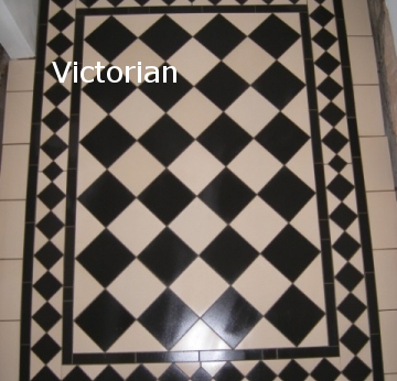 Black & White Victorian Floor