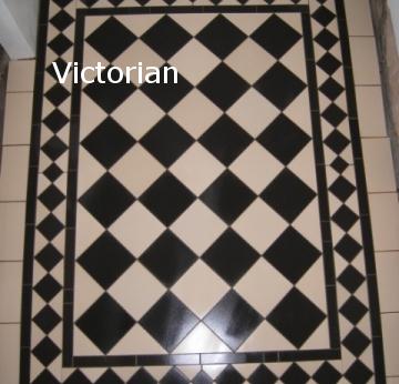Black & White Victorian Floor