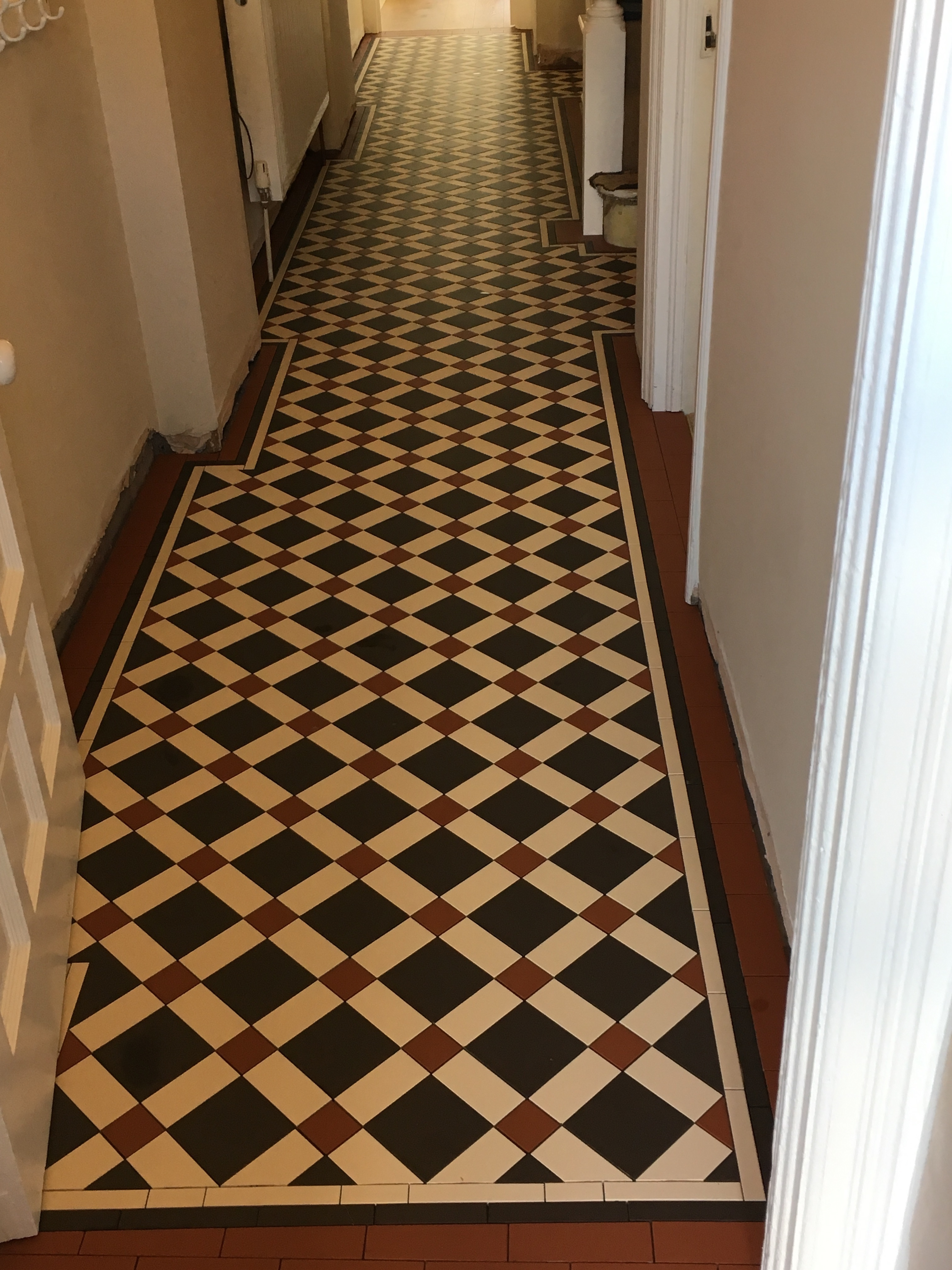 Black Slate Floor Tiles >> Victorian tiles for floors and walls in our Bristol showroom.